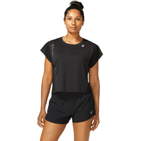 asics SMSB Run SS Top Women, performance black/graphite grey